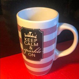 Keep Calm & Sparkle On Coffee Cup